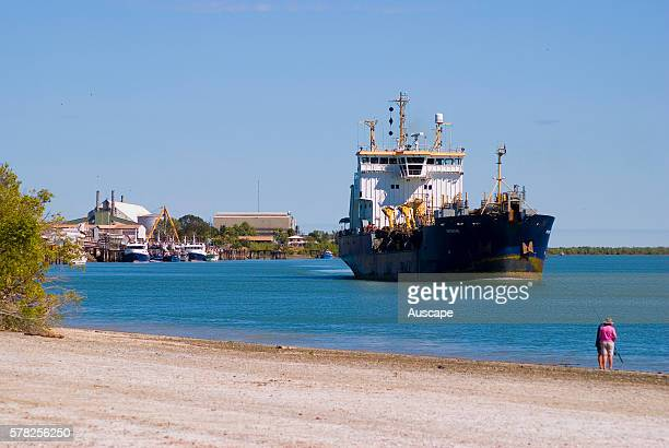 The port of Karumba, at the mouth of the Norman River, servicing remote Gulf communities since the late 1800s, Karumba, Gulf Savannah, Queensland,...