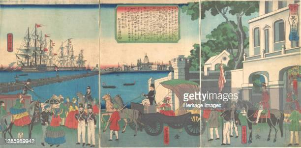 The Port of London England, 2nd month, 1862. Artist Utagawa Yoshitora.