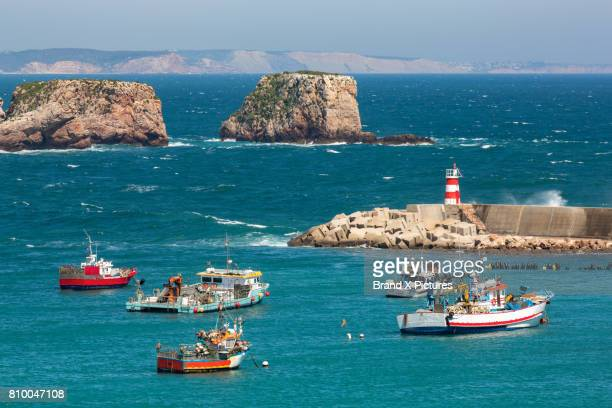 the port of sagres in the algarve - sagres stock pictures, royalty-free photos & images