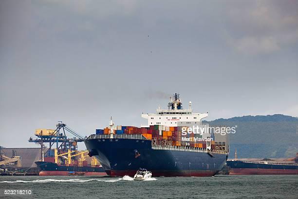 the port of santos brazil - santos stock-fotos und bilder