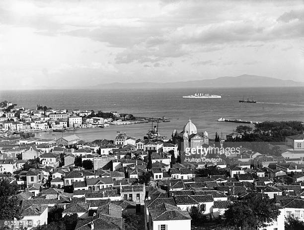 The port town of Mitylene capital of Lesbos Greece in 1937 | Location Mitylene Lesbos Greece