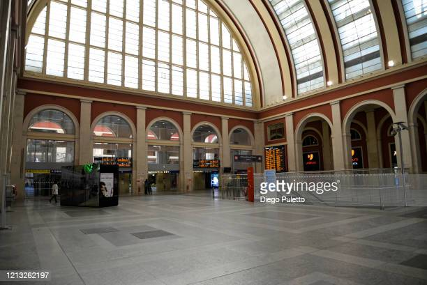 The Porta Nuova station looks deserted during the nationwide lockdown to control COVID19 spread on March 17 2020 in Turin Italy The Italian...