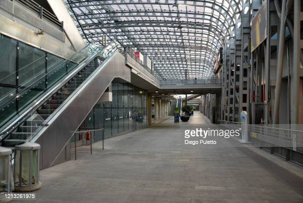 The Porta Susa station looks deserted during the nationwide lockdown to control COVID19 spread on March 17 2020 in Turin Italy The Italian government...