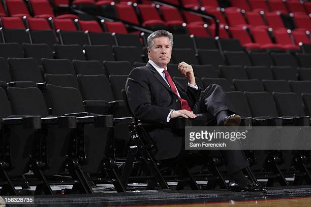 The Portland Trail Blazer General Manager Neil Olshey before the game against the Los Angeles Clippers on November 8 2012 at the Rose Garden Arena in...