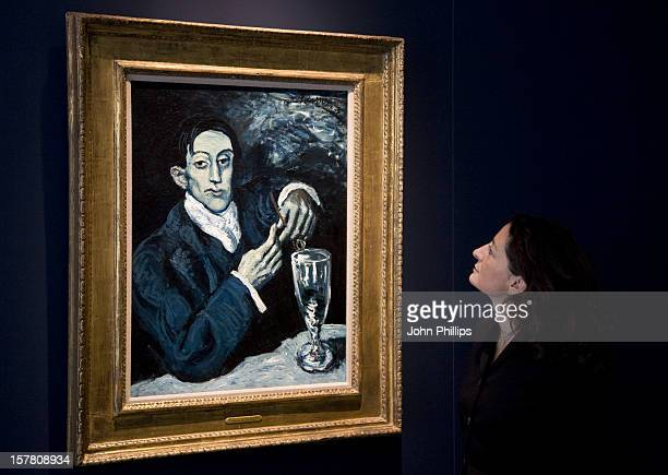 The Portrait Of Angel Fernandez De Soto Also Known As The Absinthe Drinker Painted By Pablo Picasso Which Has The Highest PreSale Estimate For Any...