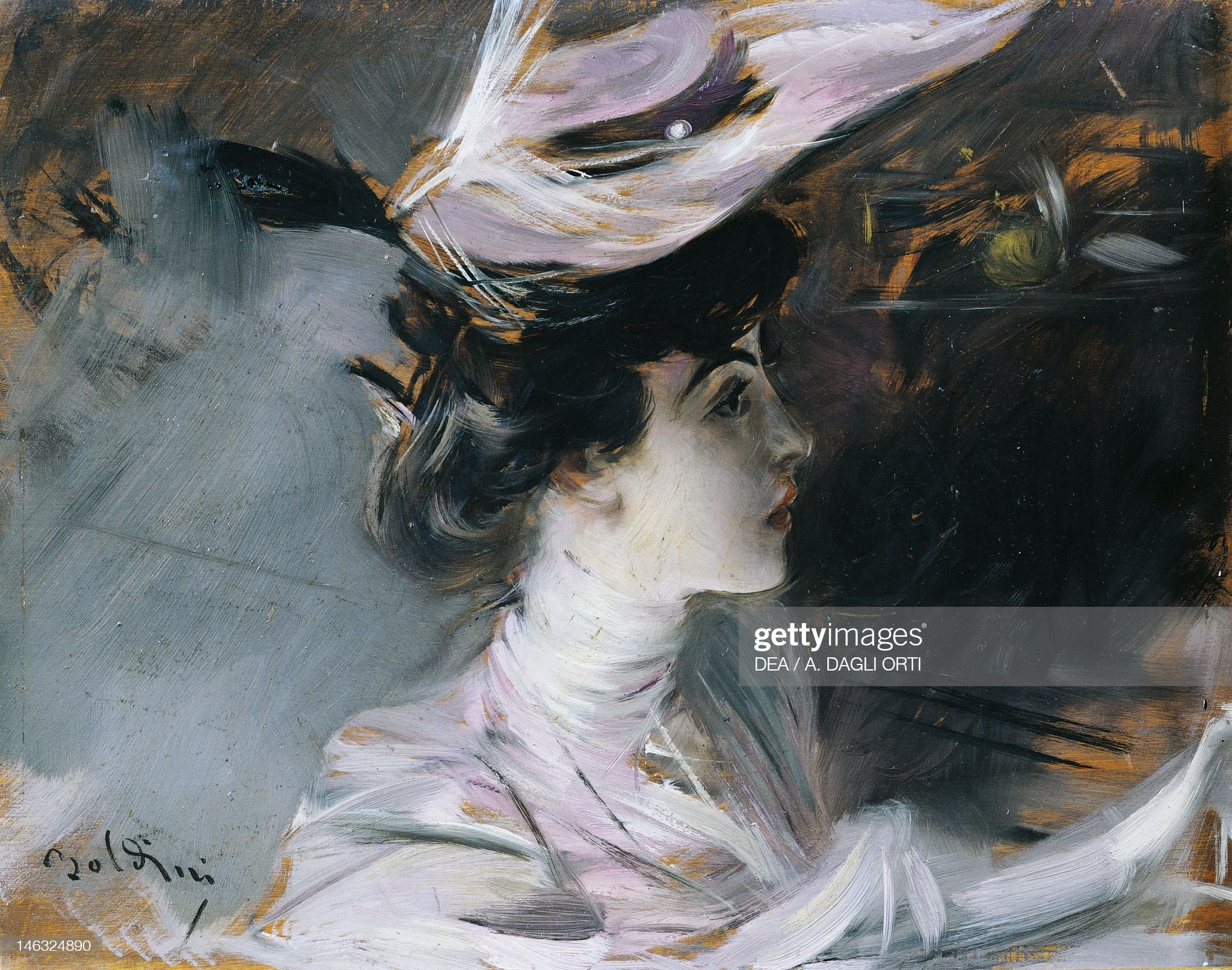 The Portrait of Lina Cavalieri with a new hat : News Photo