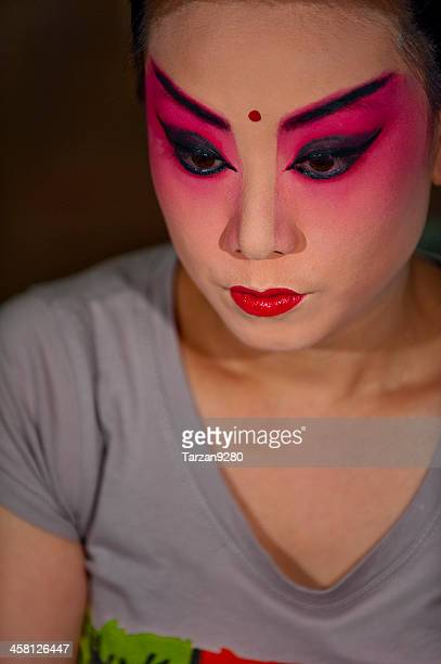 The portrait of Sichuan Opera actress