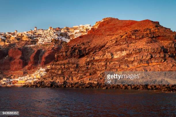 The ports of Ammoudi and Armeni, Santorini, Greek Islands, Greece