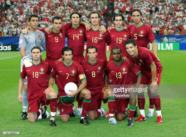 The Portugal football team prior to the FIFA World Cup QuarterFinal between England and Portugal at the Stadium in Gelsenkirchen on July 1st 2006...