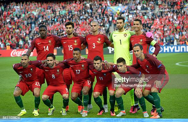 The Portugal team pose for a team group before the UEFA EURO 2016 Group F match between Portugal and Austria at Parc des Princes on June 18 2016 in...