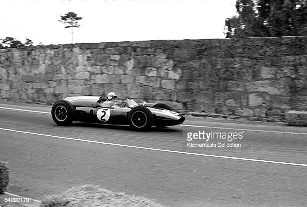 The Portuguese Grand Prix Oporto August 14 1960 Brabham at speed on the back of this dangerous 46mile open road circuit Another victory by almost a...