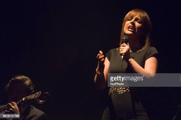 The Portuguese singer Katia Guerreiro during the performance at the Fado festival held at the theater Nuevo Apolo in Madrid Spain June 23 2018