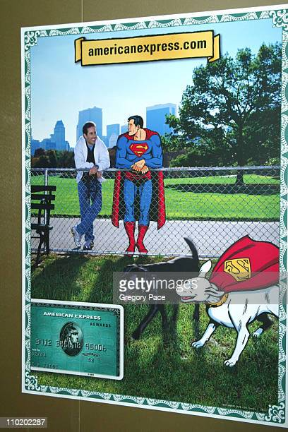 The poster for the American Express 'Webisode' starring Jerry Seinfeld and Superman