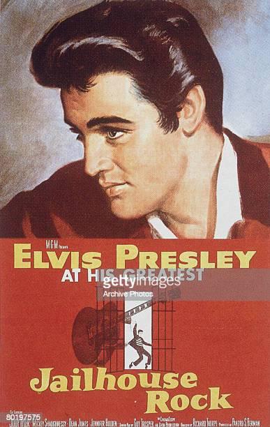 The poster for the Elvis Presley film 'Jailhouse Rock' 1957
