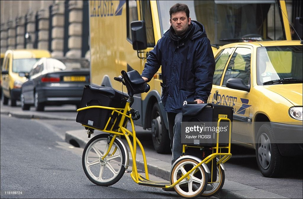 The Postmen 'Trotinette' In Paris, France On January 31, 2001. : News Photo