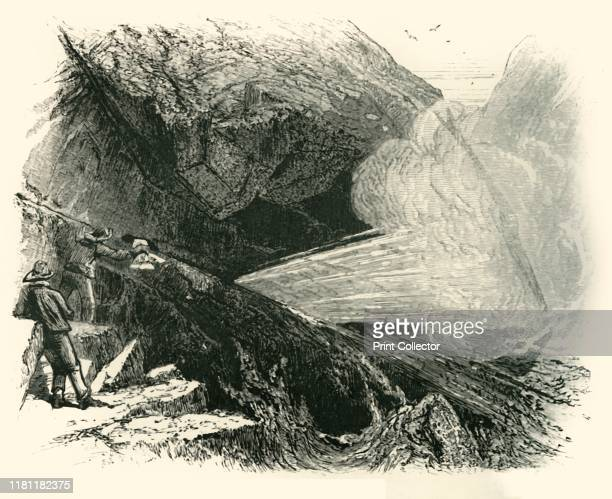 The PostOffice and Bellows' circa 1870 Blowholes at Kynance Cove on the Lizard peninsula in Mount's Bay Cornwall From Picturesque Europe The British...