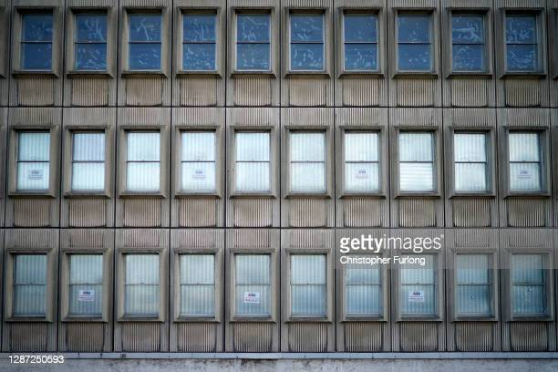 The post-war architecture dominates the Coventry City skyline on November 23, 2020 in Coventry, England. Coventry won a quadrennial competition held...