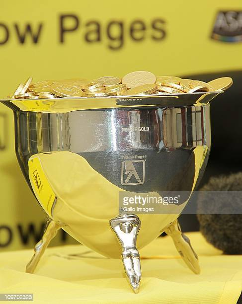 The Pot of Gold trophy during the Yellow Pages Series media conference at Trudon CT ESN House on February 28 2011 in Cape Town South Africa