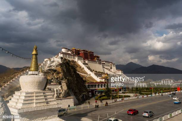 The Potala Palace in Morning Sunlight