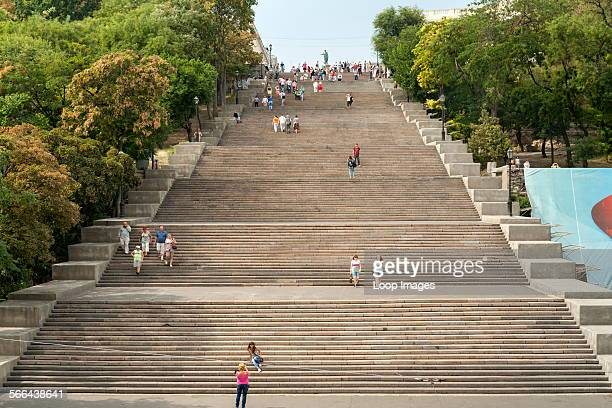 The Potemkin Stairs a giant staircase in Odessa in the Ukraine