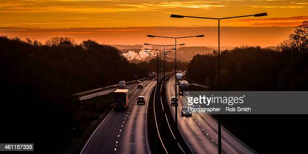the potteries - a500 - stoke on trent stock photos and pictures