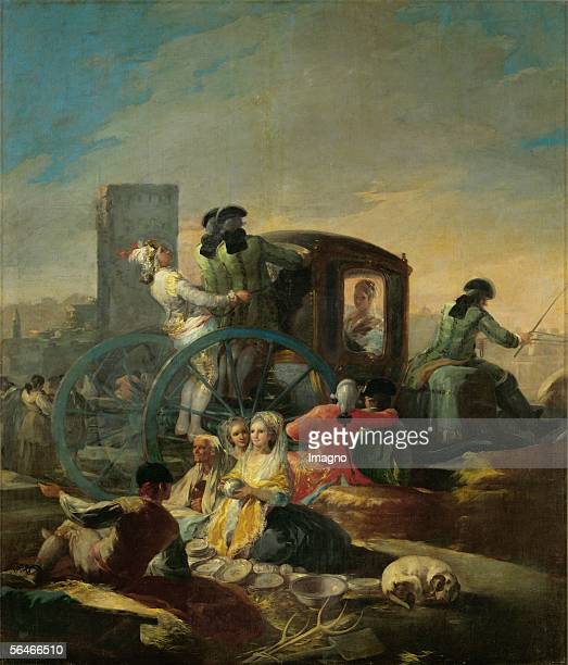 The potterymender Cartoon for tapestries for the Prado Palace 17781780 Canvas [Der Toepfer Vorlage fuer einen Wandteppich fuer den Prado...