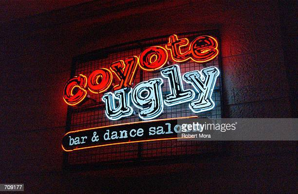 The poular bar Coyote Ugly at the New York New York Hotel and Casino is seen on May 30 2002 in Las Vegas Nevada