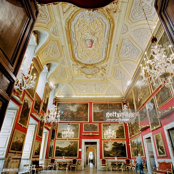 The Poussin Room is photographed for Vanity Fair Magazine on April 26 2011 in the Palazzo Doria Pamphilj in Rome Italy The room displays 17thcentury...