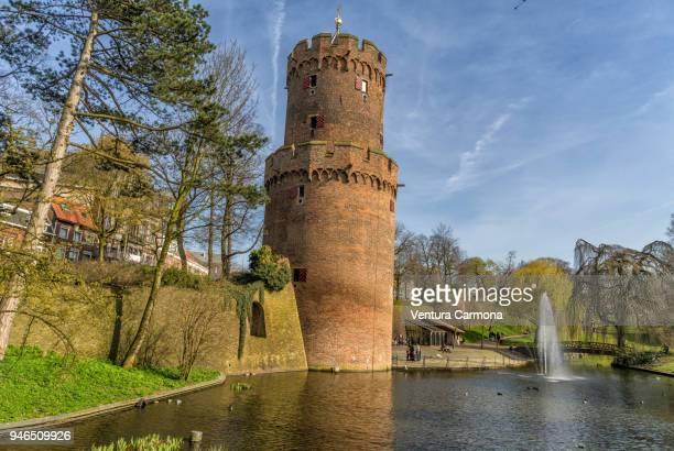"the powder tower ""kruittoren"" of nijmegen  - the netherlands - gelderland stock pictures, royalty-free photos & images"