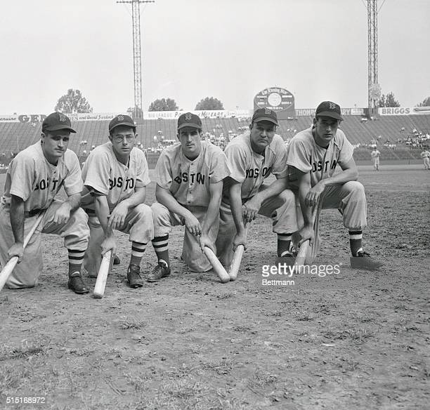 The power behind the Boston Red Sox drive for the American League pennant and a crack at the World Series came from these Big Sticks; Bobby Doerr,...