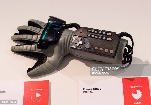 The Power Glove the first mass marketed wearable video game controller is displayed at The Museum of Failure in Los Angeles on December 7 2017 The...