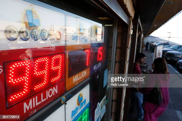 SAN PEDRO CA TUESDAY JANUARY 12 2016 The Powerball numbers on the sign at Mr C's Liquor in San Pedo Ca can't reflect the acutal jackpot which is...
