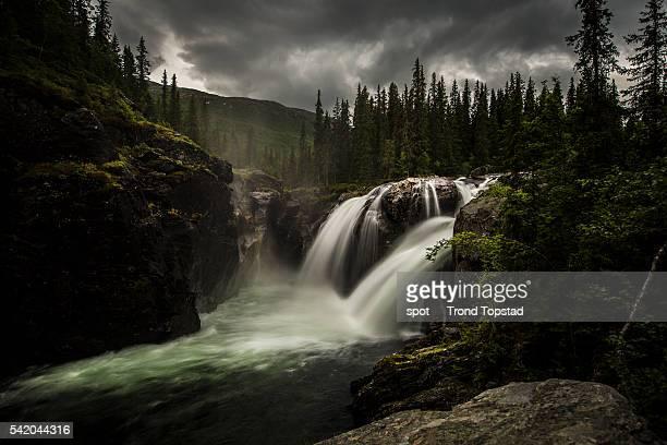 The powerful waterfall