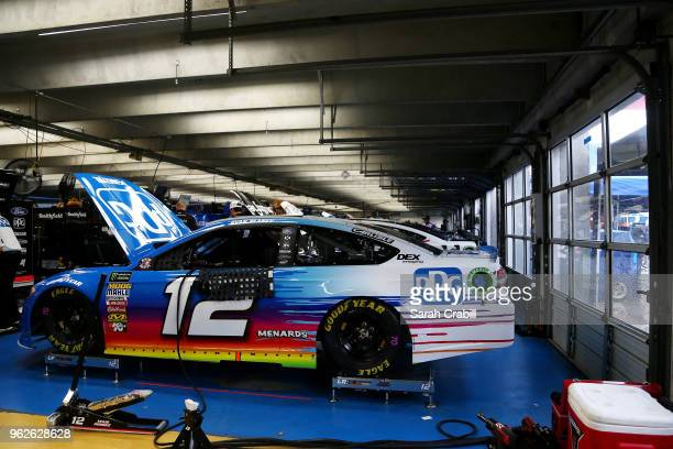 The PPG Ford is seen in the garage area before practice for the Monster Energy NASCAR Cup Series CocaCola 600 at Charlotte Motor Speedway on May 26...
