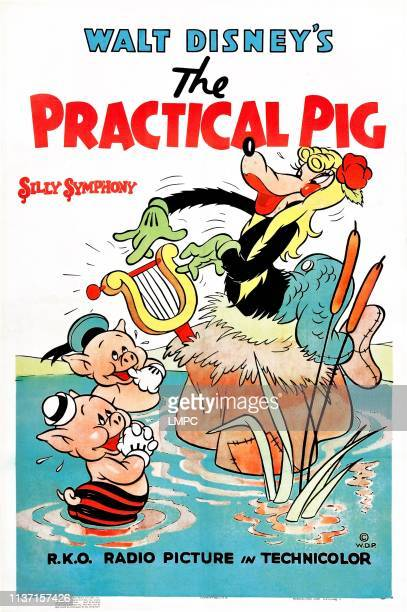 The Practical Pig poster poster art right Big Bad Wolf 1939