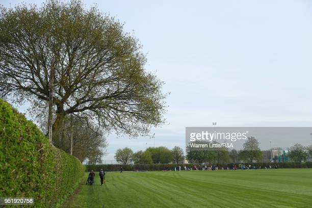 The practice range is pictured duirng the first round of the Girls' U16 Open Championship at Fulford Golf Club on April 27 2018 in York England