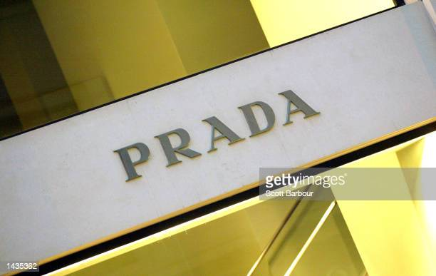 The Prada name is shown outside of a store on New Bond Street September 27, 2002 in London, England. Gucci Group and Prada Holding have all reported...
