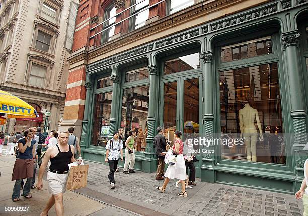 The Prada store in SoHo June 11 2004 in New York City