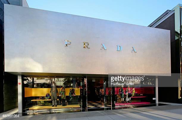 The Prada Store on January 28, 2017 in Beverly Hills, California.