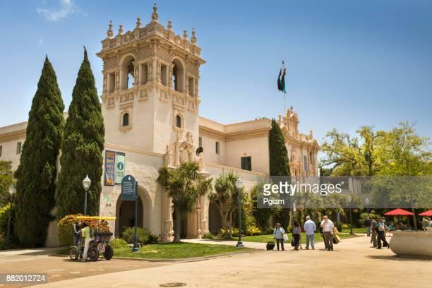 the prado in balboa park, san diego, california, usa - balboa park stock photos and pictures