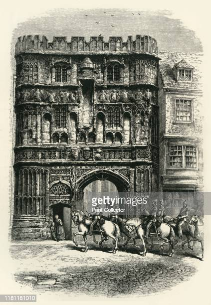 The Precinct Gate Canterbury' circa 1870 Christchurch Gate a Norman gateway built in 1517 under Prior Thomas Goldstone in the city walls of...