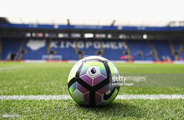 The preimer leuage ball prior to kick off during the Premier League match between Leicester City and Swansea City at The King Power Stadium on August...