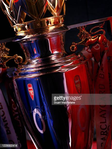 The Premier League trophy in Arsenal Stadium Highbury on September 6 2004 in London England