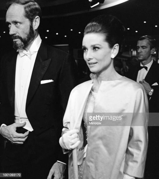 The premier of 'My Fair Lady' at the Warner Theatre Leicester Square, London. Audrey Hepburn and husband Mel Ferrer, 22nd January 1965.