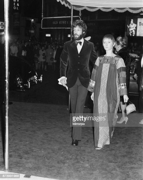 The premier of 'The Madwoman of Chaillott' at the Warner Theatre London Richard Chamberlain arrives with West End actress 26 year old Gemma Jones...