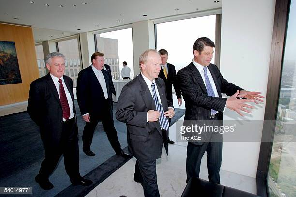 The Premier Steve Bracks with State and Territory leaders at the inaugural Council of Australian Federation meeting in the Sir Redmond Barry room on...