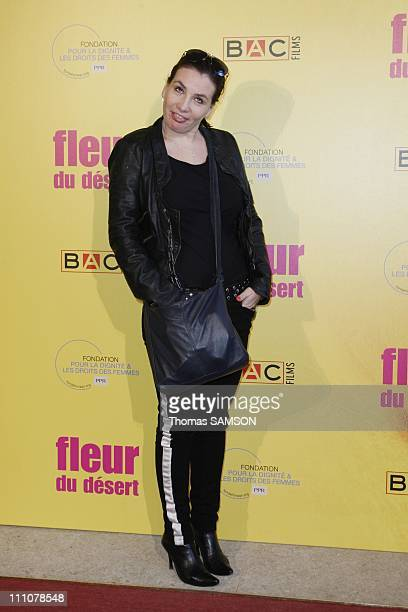 The premiere of Fleur du desert at theatre Marigny in Paris France on March 07th 2010 MarieAmelie Seigner