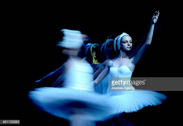 The premiere of the classical ballet Swan Lake accompanied by 3D animation is presented by the Russian ballet theater Talarium et Lux at the Russian...