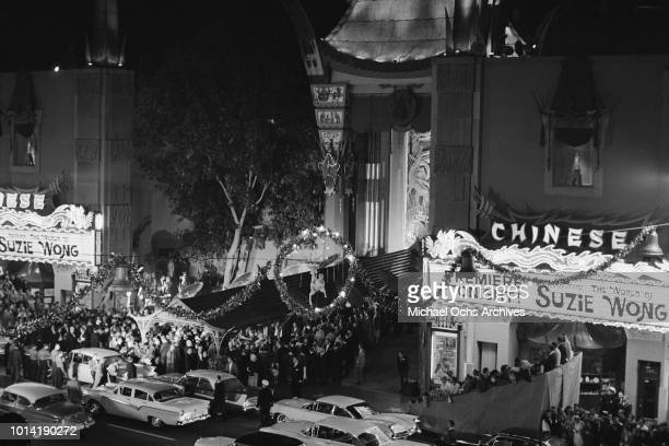 The premiere of the film 'The World of Suzie Wong' at Mann's Chinese Theatre in Hollywood California 15th December 1960