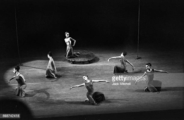 The premiere performance of Martha Graham's 'Cortege of Eagles' photographed on February 2 1967